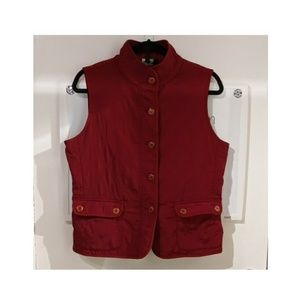 Quilted wine & gold stylish vests